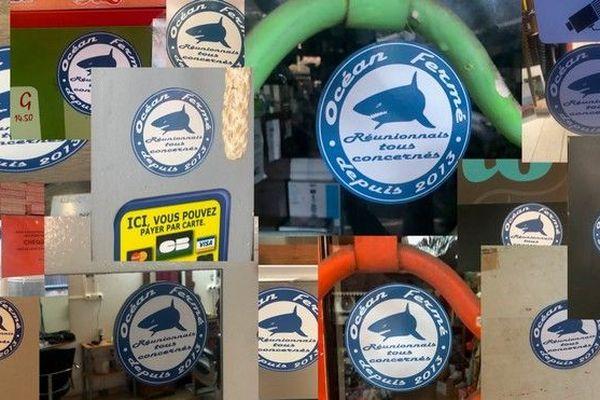 crise requins maquaron autocollant campagne OPR Océan Prévention Réunion tribunal 290619