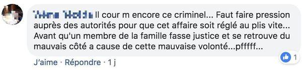 Post FB : houailou - homicide février 2019