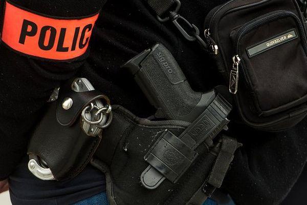 L'arme du policier