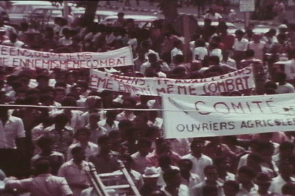 Manifestation ouvriers agricoles Février 1974