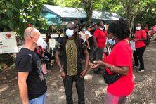 Agents UTS-UGTG de la Côte-sous-le-vent mobilisés au CHU, contre l'obligation vaccinale