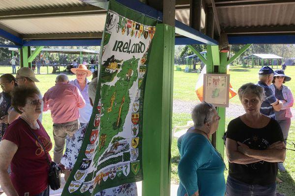 Pudding'nade, rencontre entre descendants d'Irlandais, 18 juillet, parc Fayard, carte de l'irlande