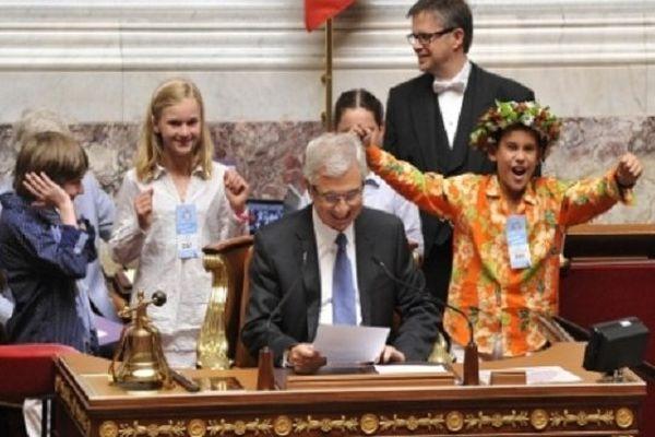 Parlement des enfants 2013, hémicycle