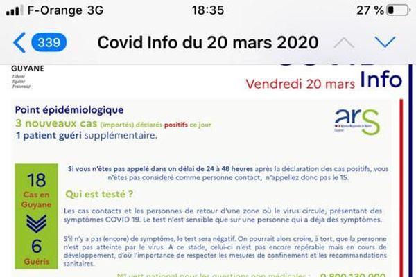 Covid info 20 mars