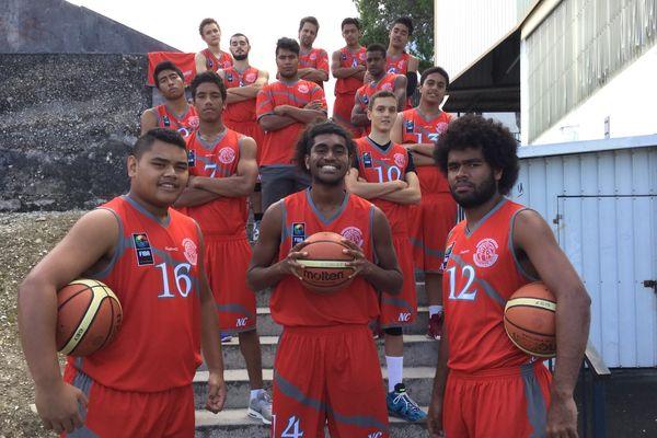 Sélection bis basket moins de 17 ans avant Océania (2017)