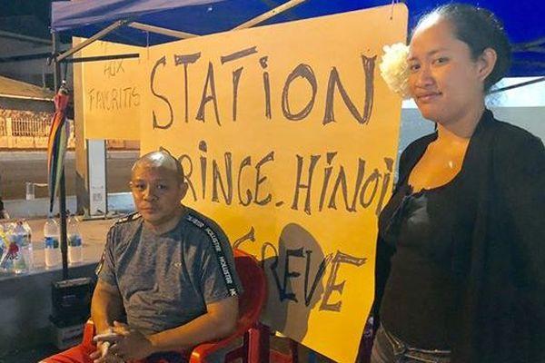 Grève station Total