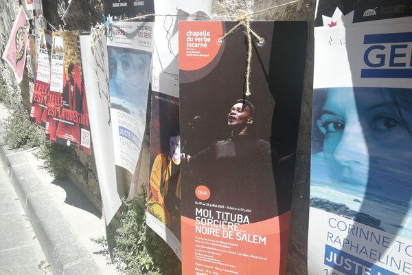 """L'affiche de la pièce """"Moi Tituba, sorcière..."""" au Festival d'Avignon"""