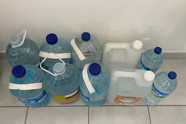 Réserve d'eau d'une abonnée du Lamentin
