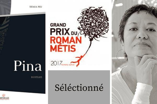 """Pina, de Titaua Peu, dans la """"short list"""" du Grand Prix du Roman Métis"""