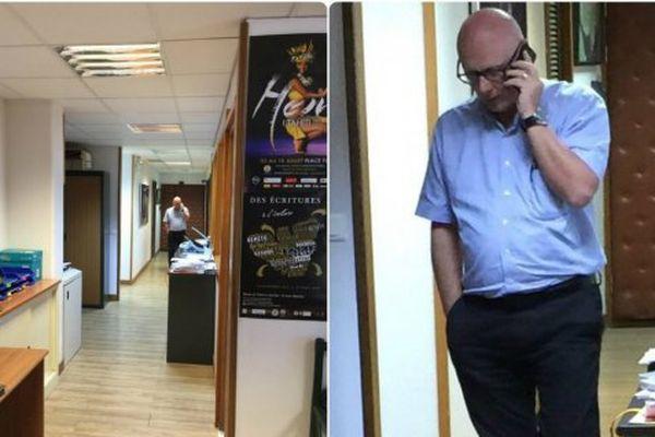 Le procureur José Thorel pendant la perquisition à l'Equipement