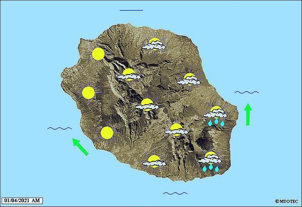 Carte météo 1 avril 2021