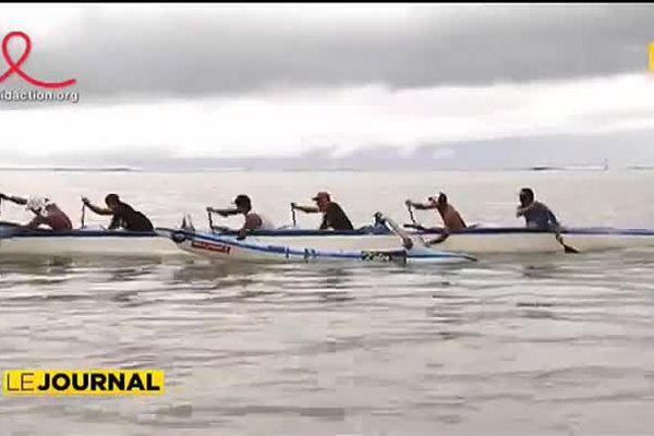 Le team Rangiroa à l'assaut de du marathon Va'a Polynésie 1ère