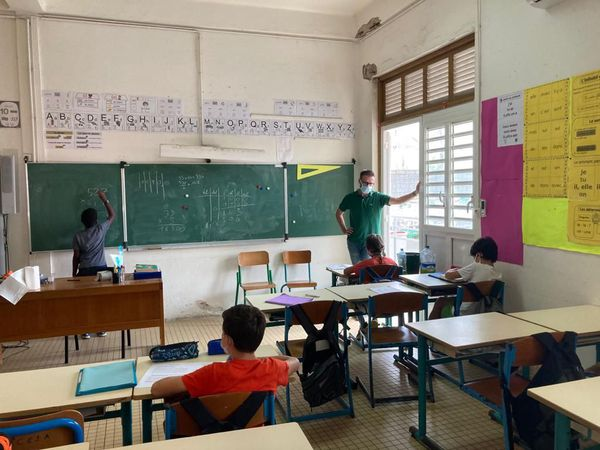 Classe de CM2 à Cayenne
