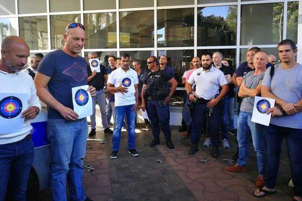Mobilisation des policiers ce matin contre les propos de Christophe Castaner