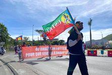 Après une année sans défilé, l'USTKE a renoué avec sa marche du 1er-Mai.