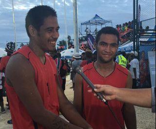 Paino Moleana et Louis Sekeme représentent Wallis et Futuna en beach volley