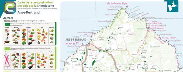 Carte chlordécone Anse-Bertrand