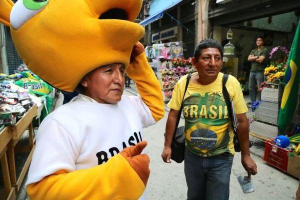 Brésilien Mascotte Coupe du monde
