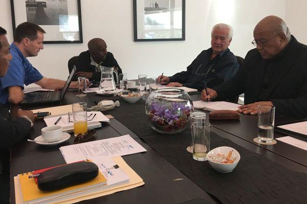 Photo réunion conseil des jeux du pacifique 26 mai 2017 Brisbane annulation Tonga