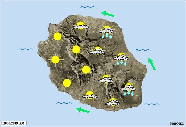 Carte météo du 19 juin 2019