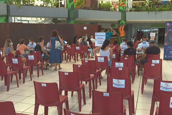 Vaccinodrome de Punaauia : ce n'est pas la foule des grand jours