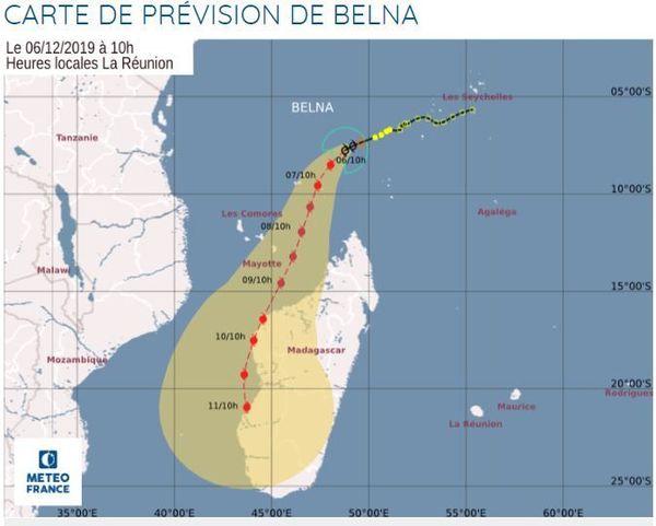 carte de prévision de Belna
