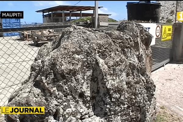 Maupiti sous la menace de roches friables