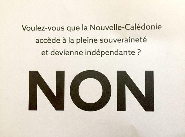 Référendum 2020, bulletin Non
