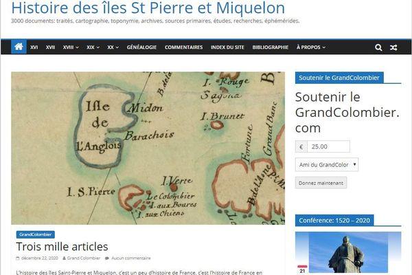 Grandcolombier.com, le site de Marc-Albert Cormier