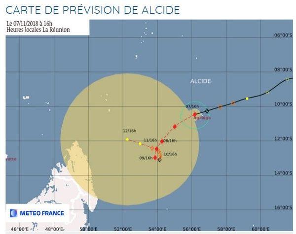 Alcide cyclone tropical trajectoire 071118