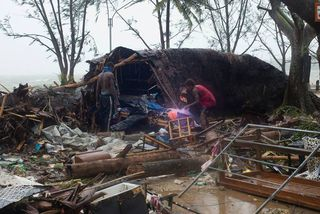 Port-Vila pendant le cyclone PAM