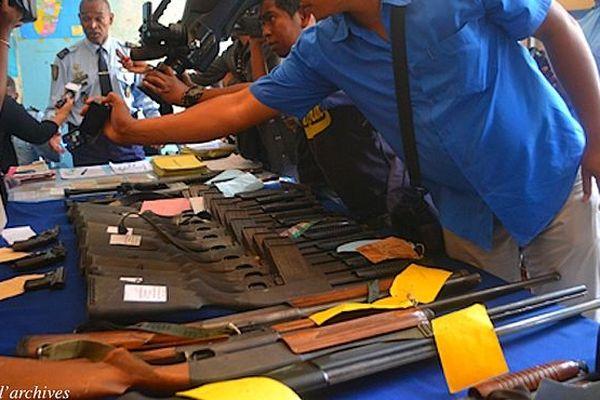 Armes saisies à Madagascar