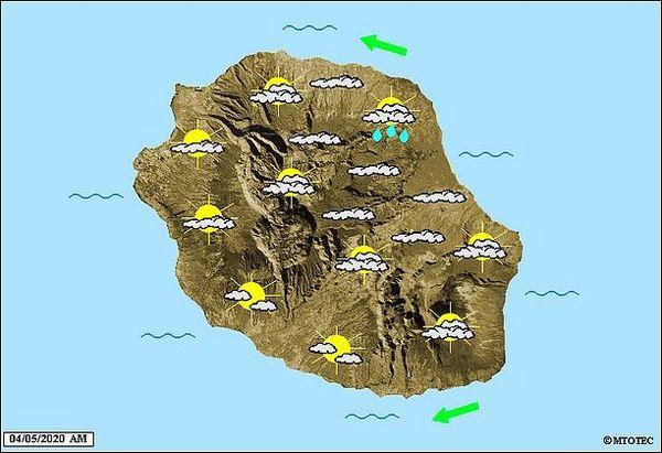 Carte météo 4 mai 2020