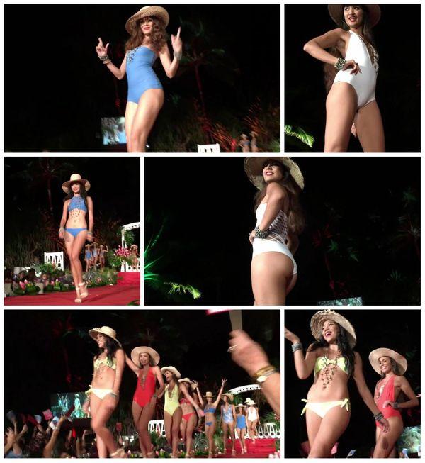 Défilé des candidates en maillots de bain - Gala Miss Tahiti 2016