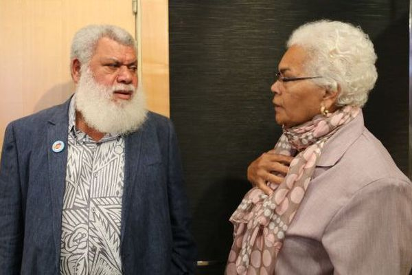 Paul Néaoutyine et Marie-Claude Tjibaou