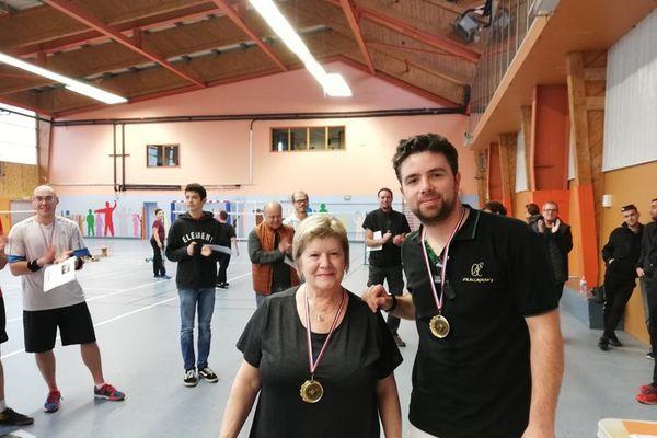 Victoire chez les adutes d'Annette Briand et Alexandre Hublart