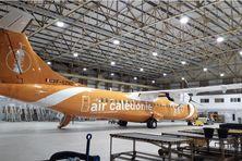 """L'opération """"Check C"""" sur cet ATR 72 d'Aircal a duré sept semaines."""