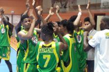 La joie de la sélection U20 de Guyane après sa victoire contre la Martinique