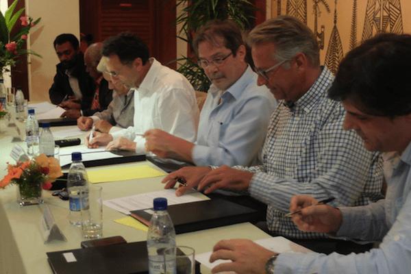 Signature de protocole d'accord concernant les cendres de Prony Energies