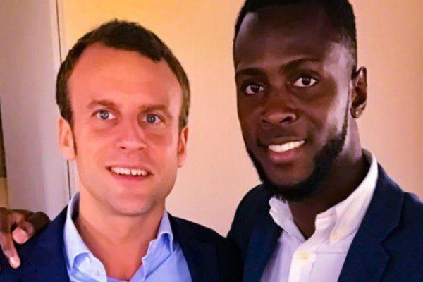 Emmanuel Macron et Lénaïck Adam.