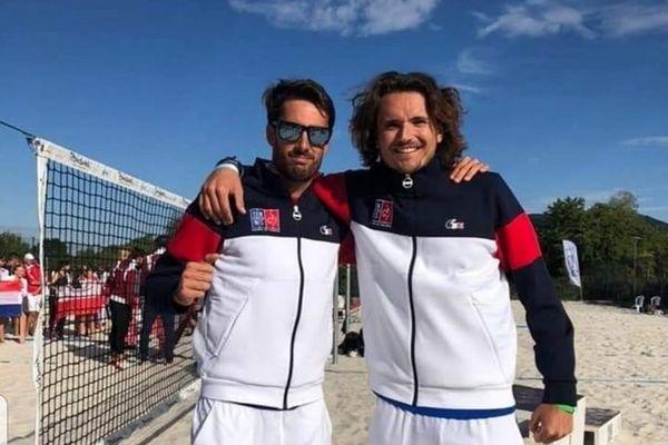 Beach tennis Théo Irigaray et Nicolas Gianotti vice-champions d'Europe 2021 en Bulgarie 110921
