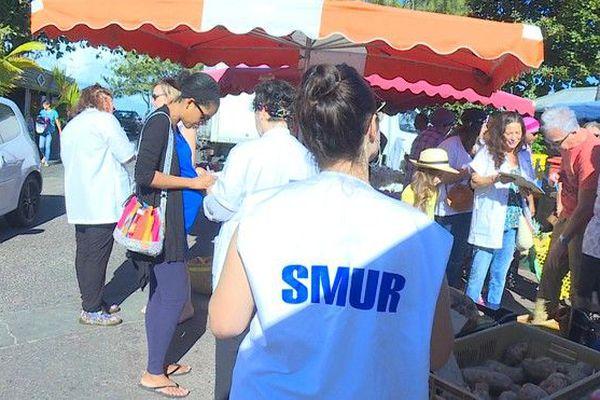 CHU Sud : collectif soignants au bord du gouffre pétition pour urgences marché forain Saint-Pierre 150619