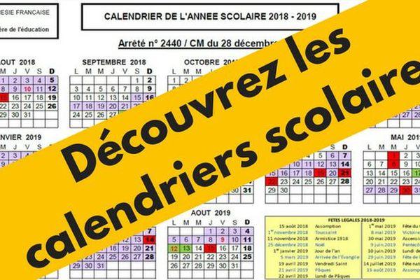 Calendrier 2018 / 2019