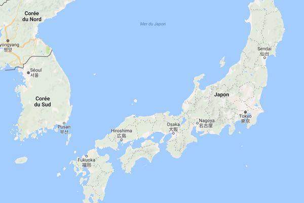 Carte Japon Corée du Nord