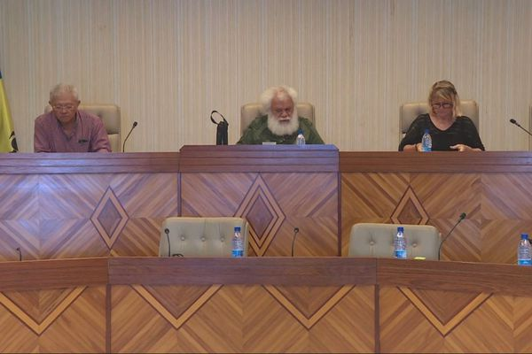 Réunion du bureau de la province Nord avec les maires, 23 avril 2020