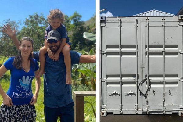 Jonathan et sa famille possède un stock de denrées dans un conteneur en Guadeloupe.
