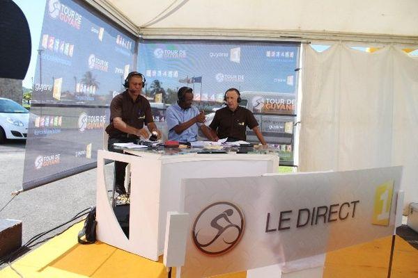 Les commentateurs de Guyane 1ère télé