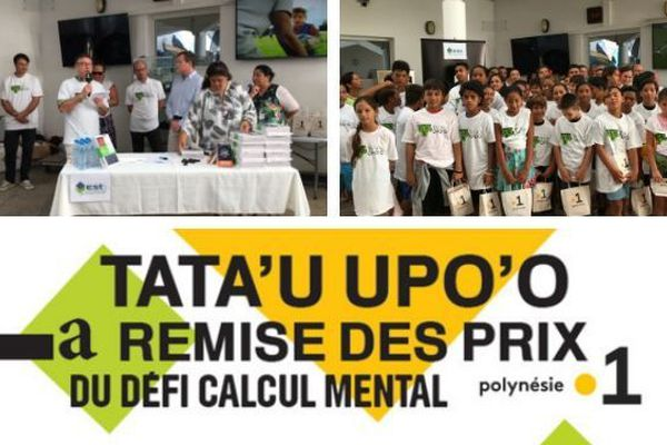 Remise de prix de la 8e édition du défi calcul mental Tata'u Upoo