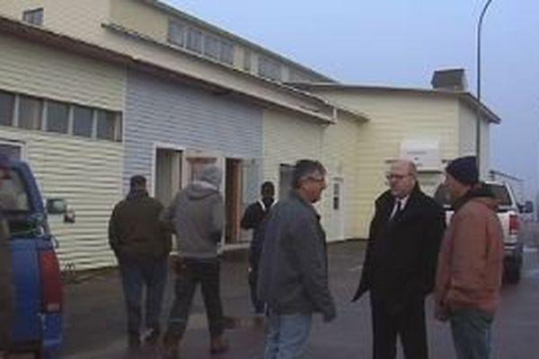 Stéphane Lenormand à Miquelon pour rencontrer les acteurs de la filière pêche
