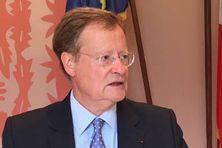 Le Haut-Commissaire, René Bidal, lors des voeux à la presse, le 17 janvier.